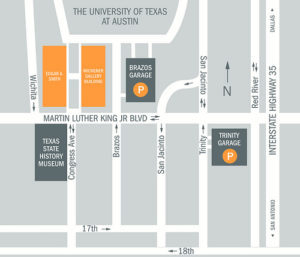 Map of UT Garages